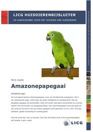 huisdierenbijsluiter amazonepapegaai